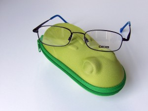 Glasses can be rested on the case